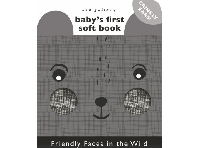 Wee Gallery Friendly Faces in the Wild - látková kniha