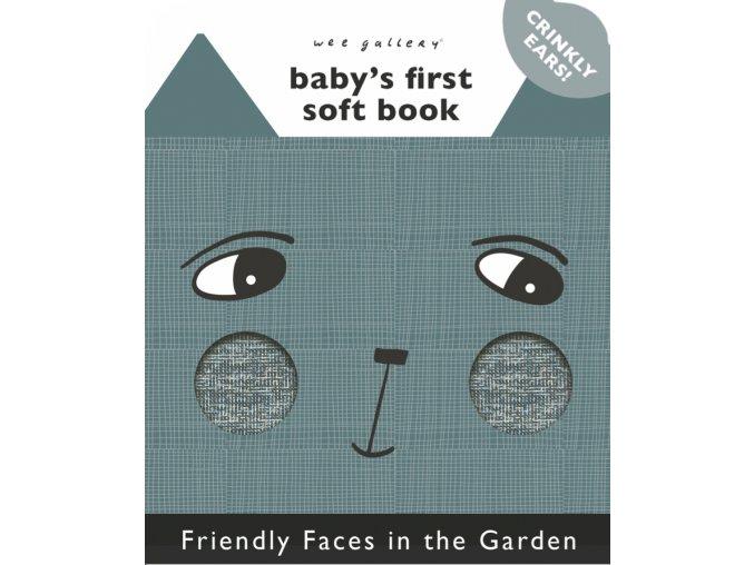 Wee Gallery Friendly Faces in the Garden - látková kniha
