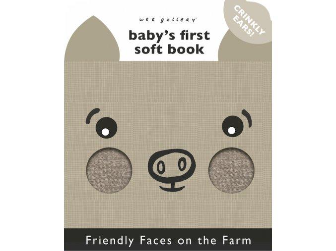 Wee Gallery Friendly Faces Farm - látková kniha