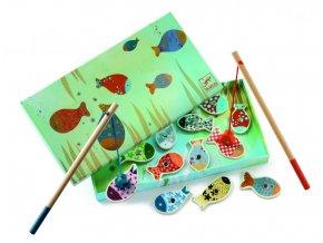 Djeco Drevená magnetická hra Čarovné rybky