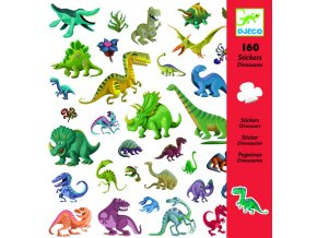 Djeco Samolepky Dinosaury (160 ks)
