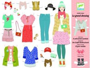 Djeco Papierové bábiky - Mega šatník