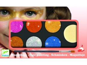 Farby na tvár - metalické farby