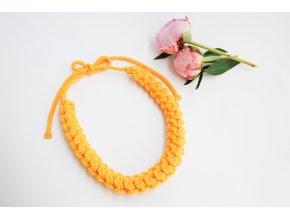 Sofia  Háčkovaný náhrdelník citrónový