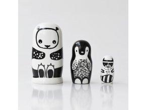 handmade nesting dolls natural heirloom gifts kids black and white 900x