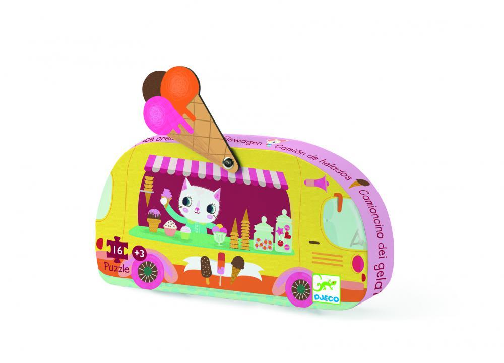 Djeco Puzzle Pojazdná zmrzlináreň