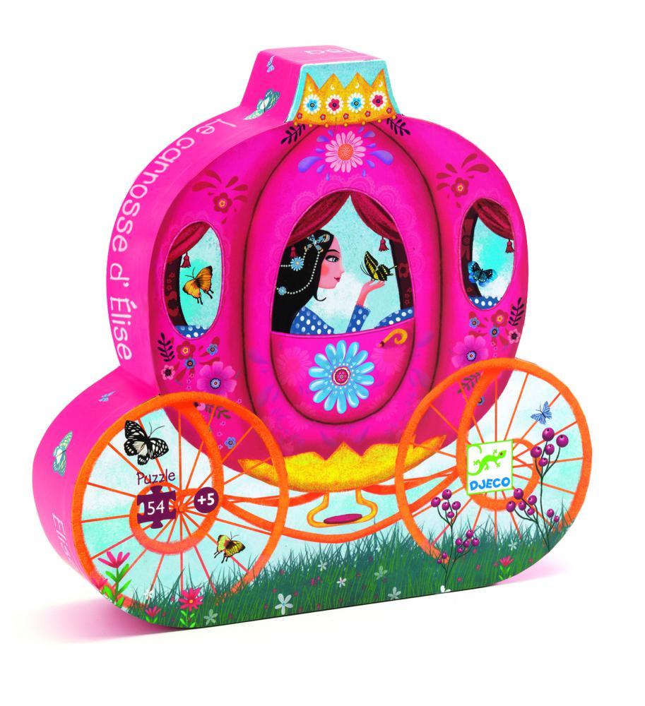 Djeco Puzzle Koč princeznej Elisy