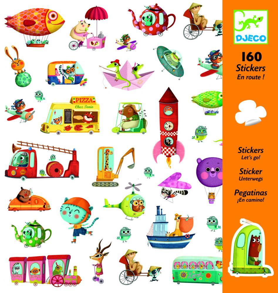 Djeco Samolepky Na cestách (160 ks)