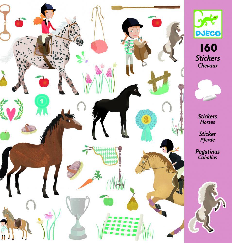 Djeco Samolepky Kone (160 ks)
