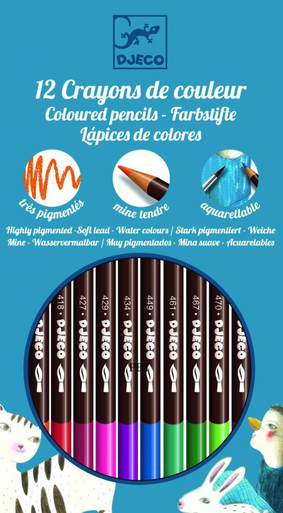 Sada akvarelových farbičiek - základné farby (12 ks)