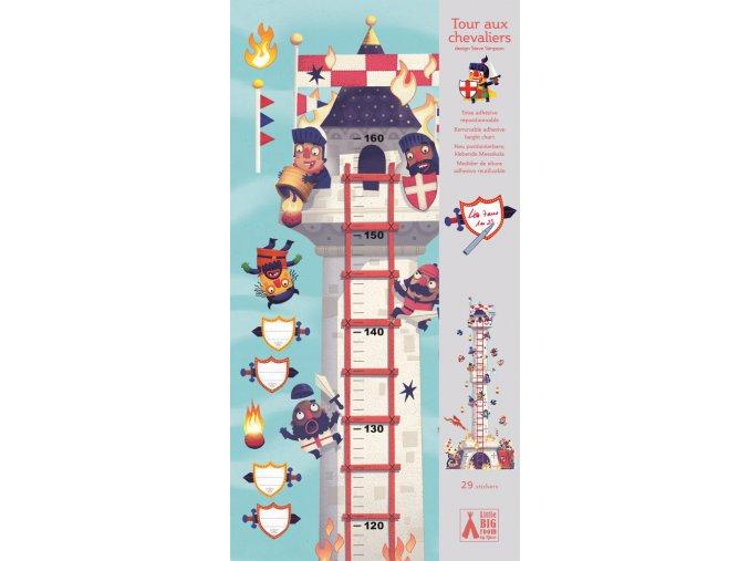 Djeco Rastový meter - Veža plná rytierov
