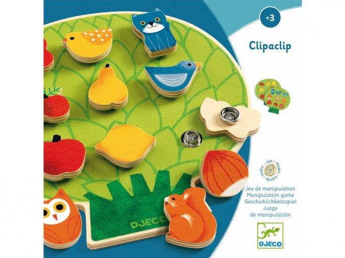 Djeco Clipaclip - dřevěná motorická hračka