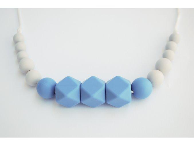 Wendy Modrá  Silikonové kojící korále