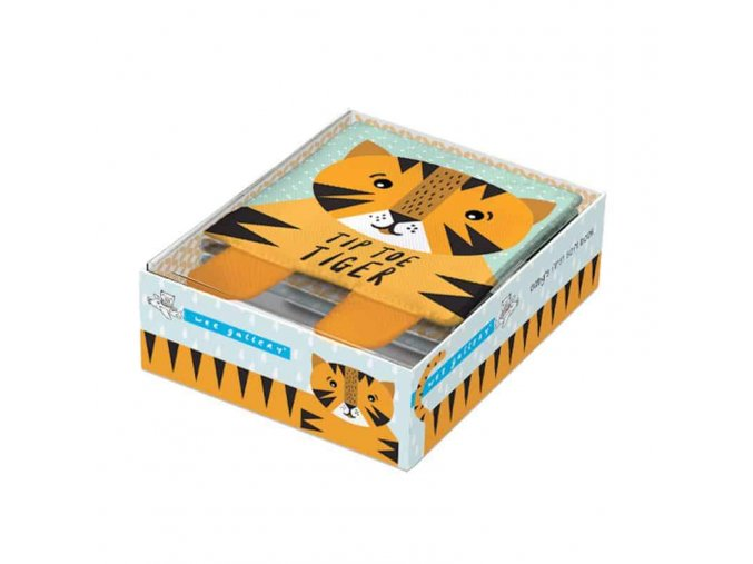 Tip Toe Tiger - látková kniha