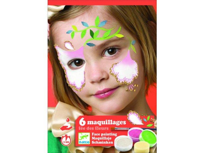 Djeco Barvy na obličej - Květinková víla