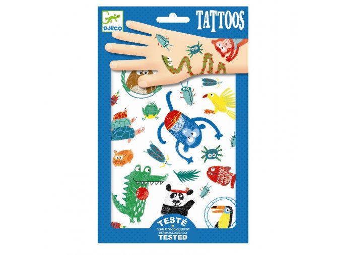 Djeco Tetování - Zvířátka
