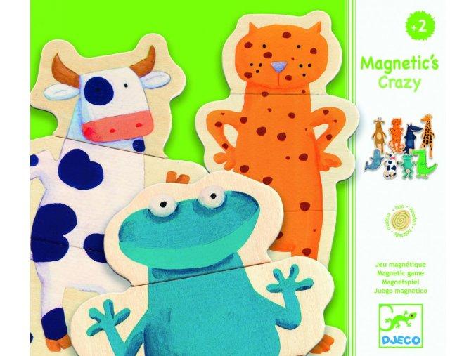 Djeco Puzzle magnetky Bláznivá zvířátka