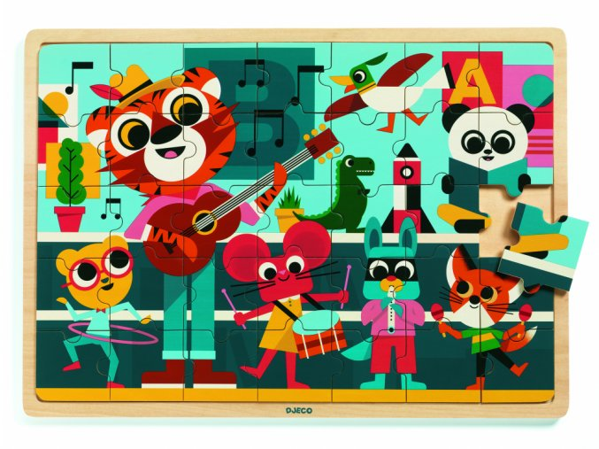 2228 djeco drevene puzzle puzzlo music hudobnici