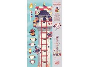 Djeco Růstový metr - Věž plná rytířů