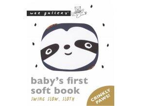 Wee Gallery Friendly Faces Soft Book Swing Slow, Sloth - látková kniha