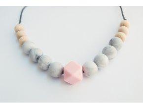 Grace Pink  Silikonové kojící korále