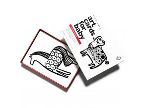 Art Cards for baby farm animals high contrast 2