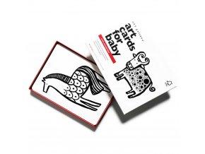Wee Gallery Art Cards Farma - kontrastní karty
