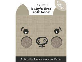 Wee Gallery A Soft Daytime Book - Hello You, Hello Me - látková kniha