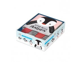 wee gallery soft book pitter patter penguin 1