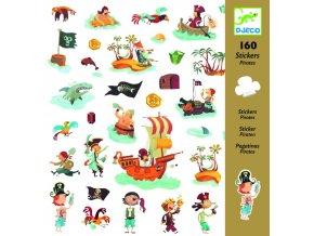2903 djeco samolepky pirati 160 ks