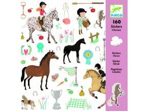 Djeco Samolepky Koně (160 ks)