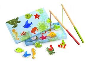 Djeco Dřevěná magnetická hra Tropické rybky