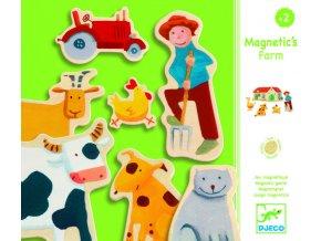 1040 djeco drevene magnetky farma