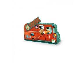 Djeco Puzzle v krabičce Hasičské auto