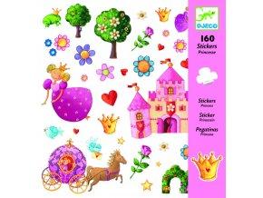Djeco Samolepky Princezna (160 ks)