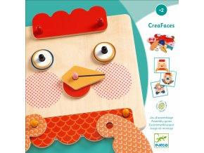 Djeco Dřevěná skládačka – CreaFaces