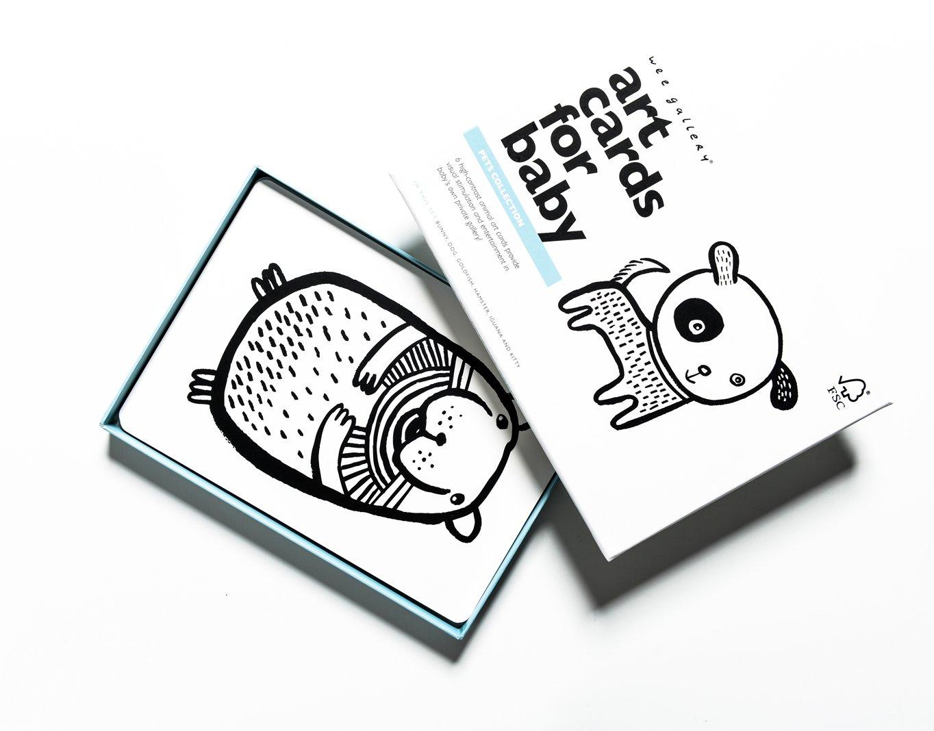 Levně Wee Gallery Art Cards Pets - kontrastní karty