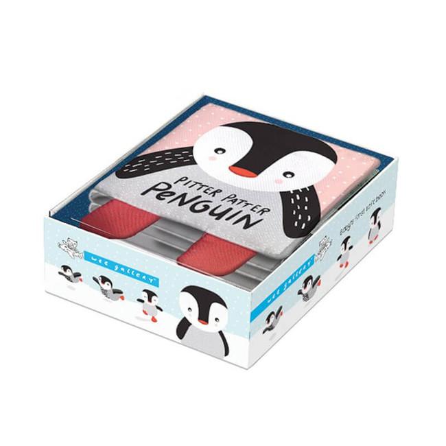 Levně Wee Gallery Pitter Patter Pinguin Látková kniha