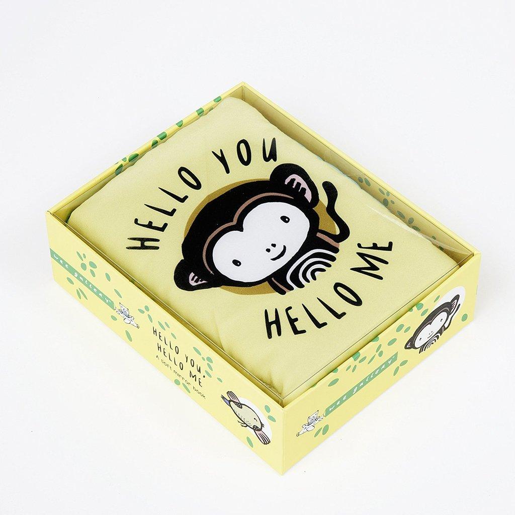 Levně Wee Gallery A Soft Daytime Book - Hello You, Hello Me - látková kniha
