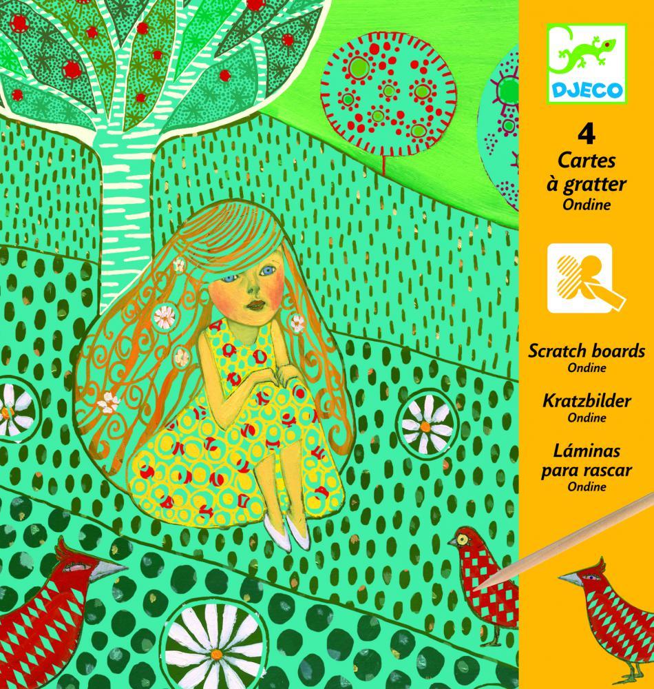 Levně Djeco Vyškrabávací obrázky - Rusalky