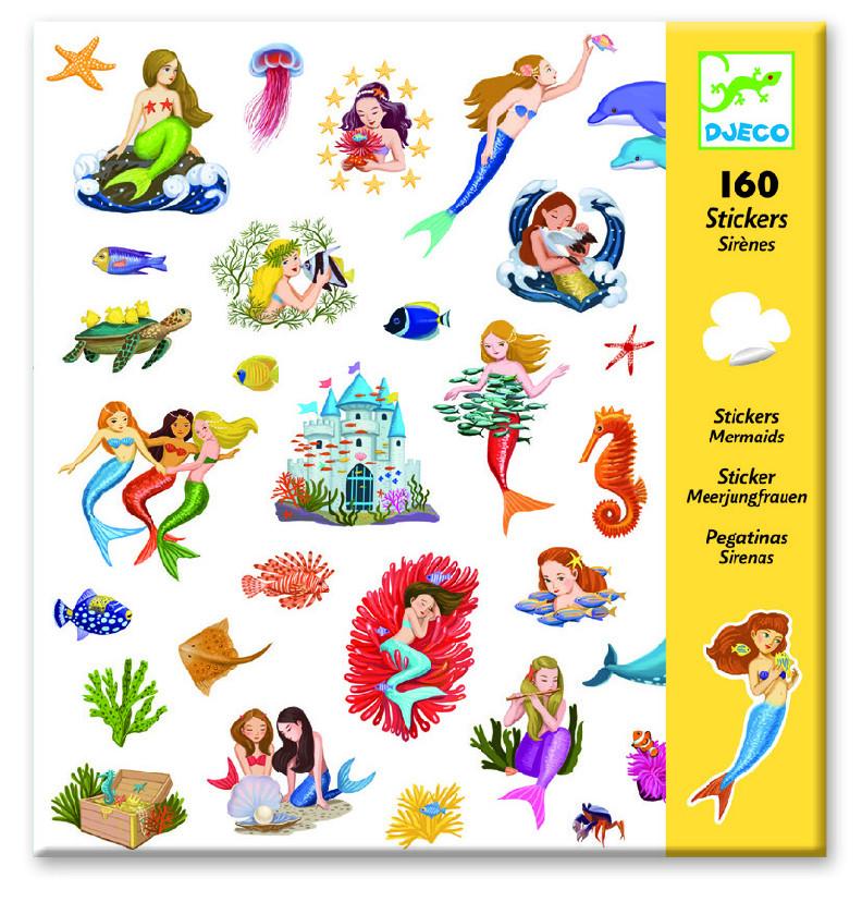 Levně Djeco Samolepky Mořské panny (160 ks)