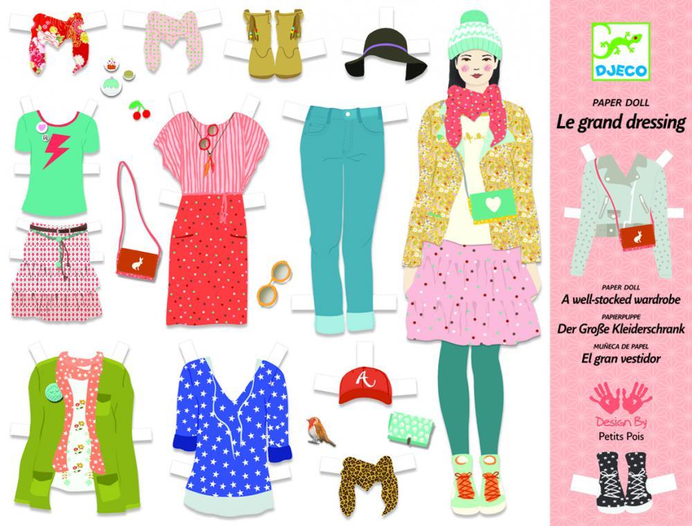 Djeco Papírové panenky - Velké oblékání
