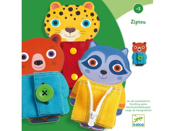 Levně Djeco Ziptou - Motorická edukační hračka