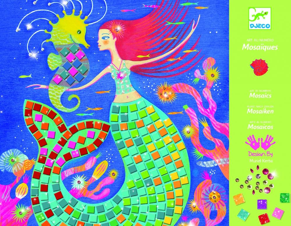 Levně Djeco Perleťová mozaika Mořské panny