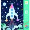 Djeco Vyškrabávací obrázky - Vesmírná mise