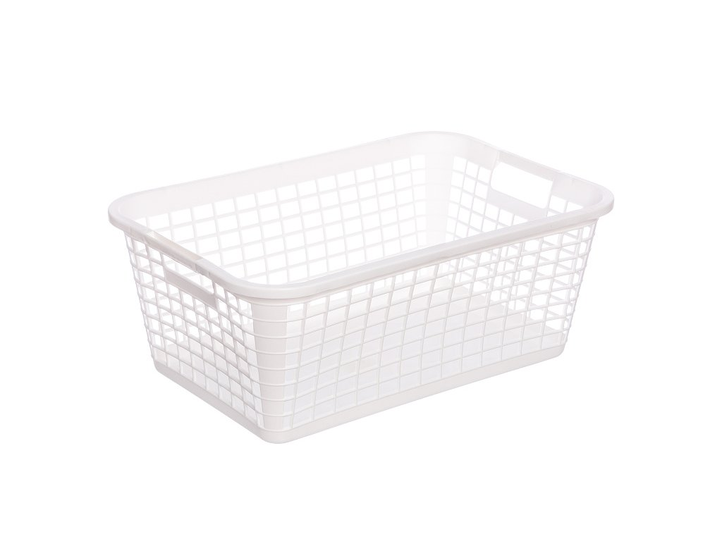 Plastový koš na prádlo bílý