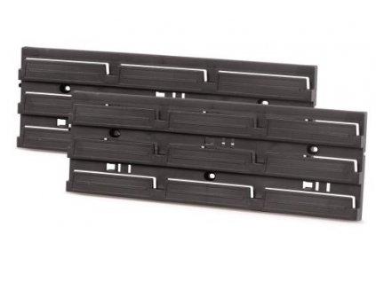 Montážní panel HANGING BAR 386x130x18 černý, 2 ks