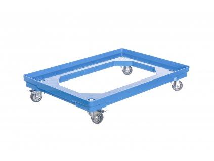 Vozík pod přepravky 2 otočná + 2 kolečka s brzdou 50 mm polyuretan
