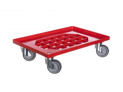 Vozík pod přepravky 4 otočná gumová kolečka 100 mm 250 kg