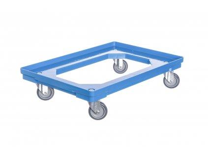 Vozík pod přepravky 4 otočná kolečka 75 mm polyuretan